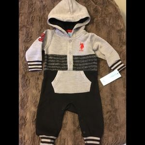 NWT Infant US Polo One-Piece W/Hood Size 6-9Months